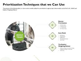 Prioritization Techniques That We Can Use Weighting Method Ppt Powerpoint Presentation Themes