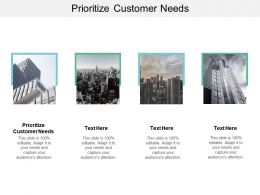 Prioritize Customer Needs Ppt Powerpoint Presentation Professional Topics Cpb