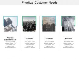 Prioritize Customer Needs Ppt Powerpoint Presentation Summary Good Cpb