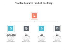 Prioritize Features Product Roadmap Ppt Powerpoint Presentation Ideas Clipart Images Cpb