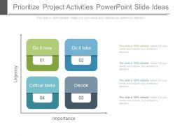 Prioritize Project Activities Powerpoint Slide Ideas