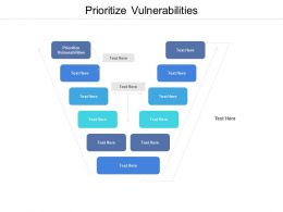 Prioritize Vulnerabilities Ppt Powerpoint Presentation Show Topics Cpb