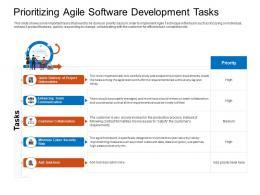Prioritizing Agile Software Development Tasks Project Ppt Summary