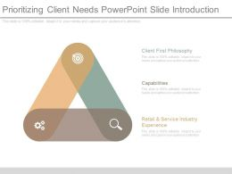 Prioritizing Client Needs Powerpoint Slide Introduction