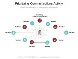 Prioritizing Communications Activity Ppt Powerpoint Presentation Professional Samples Cpb