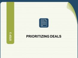 Prioritizing Deals Agenda N178 Powerpoint Presentation Demonstration