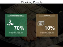 Prioritizing Projects Ppt Powerpoint Presentation Visual Aids Infographics Cpb