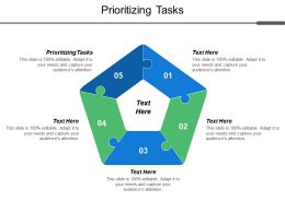 Prioritizing Tasks Ppt Powerpoint Presentation Model Design Inspiration Cpb