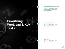 Prioritizing Workload And Key Tasks Ppt Powerpoint Presentation Layouts Professional