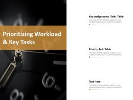 Prioritizing Workload And Key Tasks Ppt Slides Visual Aids