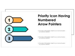 Priority Icon Having Numbered Arrow Pointers