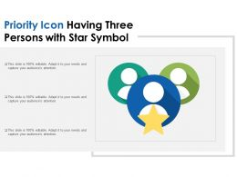 Priority Icon Having Three Persons With Star Symbol