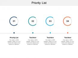 Priority List Ppt Powerpoint Presentation Background Cpb