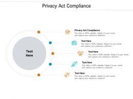 Privacy Act Compliance Ppt Powerpoint Presentation Slides Portfolio Cpb