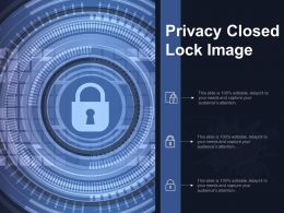 Privacy Closed Lock Image