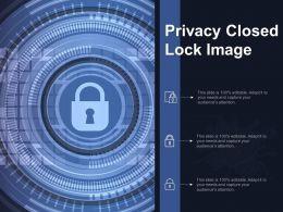 Privacy Closed Lock Image