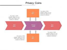 Privacy Coins Ppt Powerpoint Presentation Model Design Templates Cpb