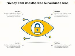 Privacy From Unauthorized Surveillance Icon