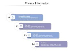 Privacy Information Ppt Powerpoint Presentation Icon Styles Cpb