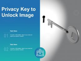 Privacy Key To Unlock Image