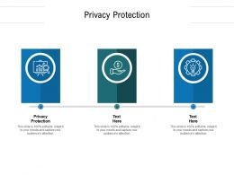 Privacy Protection Ppt Powerpoint Presentation Infographic Template Ideas Cpb