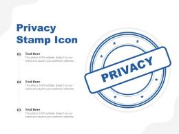 Privacy Stamp Icon