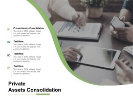 Private Assets Consolidation Ppt Powerpoint Presentation Professional Objects Cpb
