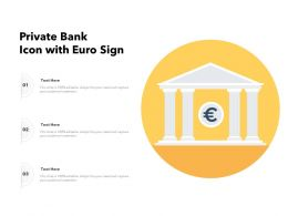 Private Bank Icon With Euro Sign