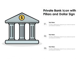 Private Bank Icon With Pillars And Dollar Sign