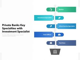 Private Banks Key Specialties With Investment Specialist