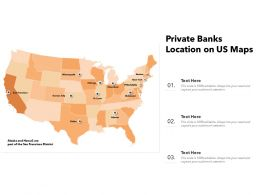 Private Banks Location On US Maps