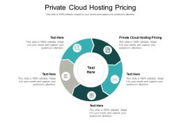 Private Cloud Hosting Pricing Ppt Powerpoint Model Graphic Images Cpb