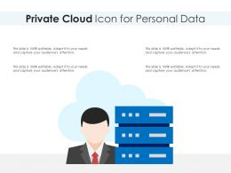 Private Cloud Icon For Personal Data