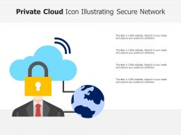 Private Cloud Icon Illustrating Secure Network