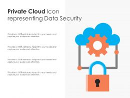 Private Cloud Icon Representing Data Security