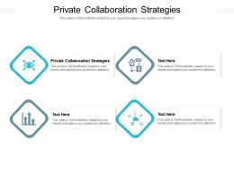 Private Collaboration Strategies Ppt Powerpoint Presentation Ideas Format