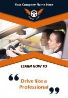 Private Driving School Two Page Flyer Template