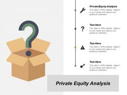 Private Equity Analysis Ppt Powerpoint Presentation Inspiration Graphics Cpb