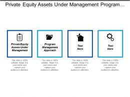 Private Equity Assets Under Management Program Management Approach Cpb