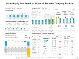 Private Equity Dashboard For Financial Review Of Company Portfolio Ppt Presentation Show