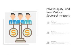 Private Equity Fund From Various Source Of Investors