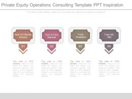 Private Equity Operations Consulting Template Ppt Inspiration