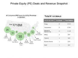 Private Equity Pe Deals And Revenue Snapshot Good Ppt Example