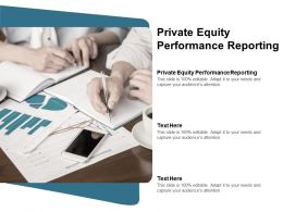 Private Equity Performance Reporting Ppt Powerpoint Presentation Summary Visuals Cpb