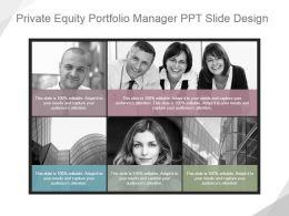 Private Equity Portfolio Manager Ppt Slide Design