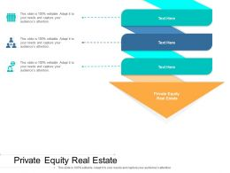 Private Equity Real Estate Ppt Powerpoint Presentation Ideas Aids Cpb