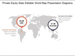 Private Equity Stats Editable World Map Presentation Diagrams