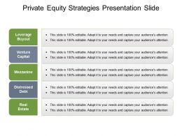 Private Equity Strategies Presentation Slide