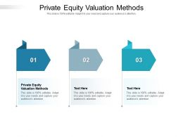 Private Equity Valuation Methods Ppt Powerpoint Presentation Slides Guide Cpb