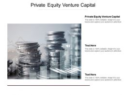 Private Equity Venture Capital Ppt Powerpoint Presentation Infographics Visual Aids Cpb